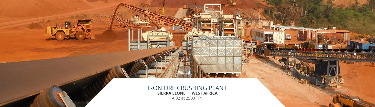 Iron ore crushing plant in Sierra Leone