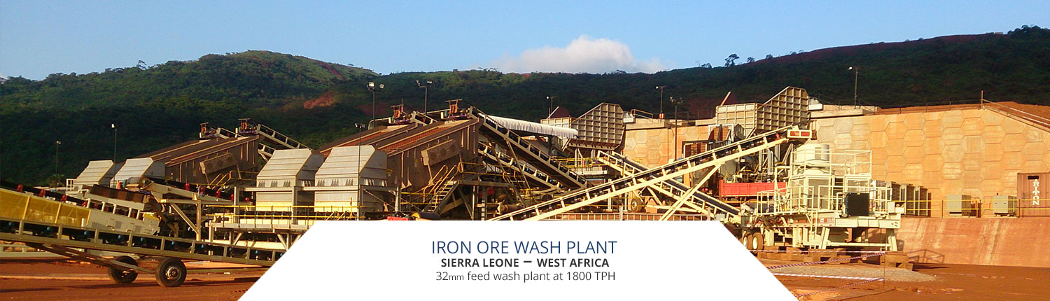 Iron ore wash plant in Sierra Leone