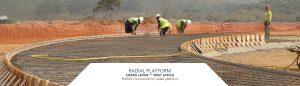 Preform work on radial platform